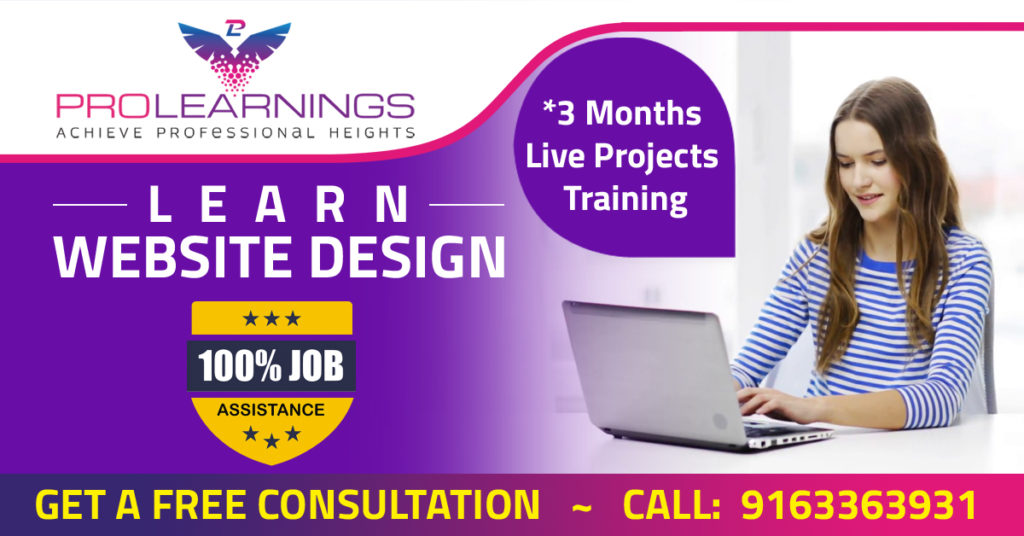 Website Design Course With 100 Placement Assistance Prolearnings
