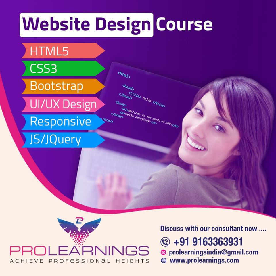 Pursue The Best Web Design Course Near You Prolearnings
